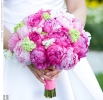 Свадебное фото - Розовый свадебный букет_22